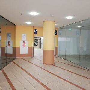 Toilette im Parkhaus im Forum